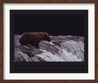 Grizzly Bear and Fish Fine-Art Print