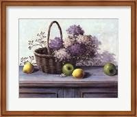 Basket of Purple Flowers Fine-Art Print