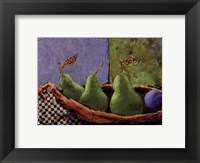 Plums and Pears I Fine-Art Print