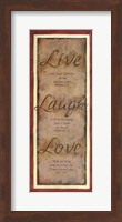 Live Laugh Love Fine-Art Print