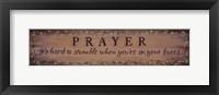 Prayer - It's Hard To Stumble Fine-Art Print