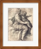 Madonna and Child On The Clouds Fine-Art Print