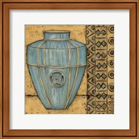Square Cerulean Pottery II Fine-Art Print