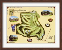 Golf Course Map-Augusta Fine-Art Print