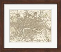 Sepia Map Of London Fine-Art Print