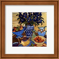 Blue And White With Oranges Fine-Art Print
