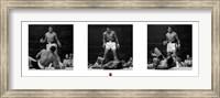 Muhammad Ali - 1965 1st Round Knockout Against Sonny Liston - Triptych Fine-Art Print