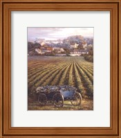 Grapes on Blue Wagon Fine-Art Print