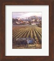 Grapes on Blue Wagon Fine-Art Print