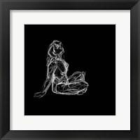 Figure Study on Black II Fine-Art Print