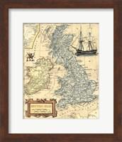 British Isles Map Fine-Art Print