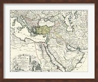 Map of Europe, Asia and Africa Fine-Art Print