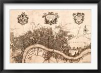 Plan of the City of London, 1720 Fine-Art Print
