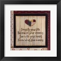 Simplify Your Life Fine-Art Print