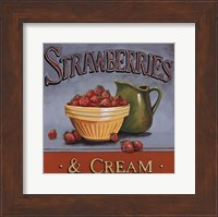 Strawberries & Cream - mini Fine-Art Print