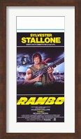 Rambo: First Blood Stallone with Automatic Rifle Fine-Art Print