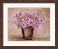 Classic Pink Roses And Hydrangeas Fine-Art Print