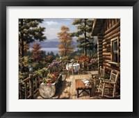 Log Cabin Porch Fine-Art Print