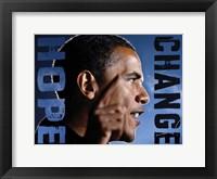 Barack Obama: Hope, Change Fine-Art Print