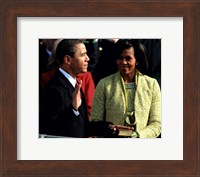 2009 Barack Obama Inaugural Address With Michelle Obama Fine-Art Print