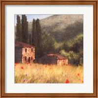 Villa and Cypress Fine-Art Print