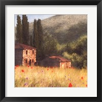 Villa and Cypress Fine-Art Print
