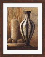 Natural Raffia and Clay I Fine-Art Print