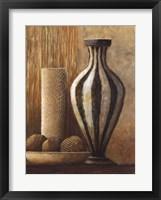 Natural Raffia and Clay I Fine-Art Print