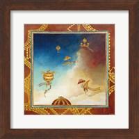 Voyage en ballon - gold Fine-Art Print
