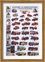 History of Firefighting Wall Poster