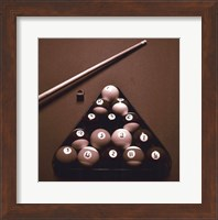 Pool Table I - Sepia Fine-Art Print