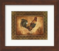 Country Rooster I - mini Fine-Art Print