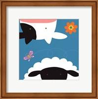 Farm Group: Cow and Sheep Fine-Art Print