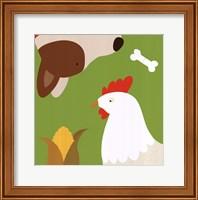 Farm Group: Hen and Dog Fine-Art Print