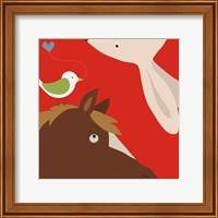 Farm Group: Rabbit and Horse Fine-Art Print