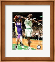 Kevin Garnett Game Five of the 2009-10 NBA Finals Action (#12) Fine-Art Print