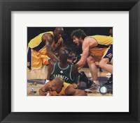 Kobe Bryant, Pau Gasol, Derek Fisher & Kevin Garnett fight for ball - 2010 NBA Finals Game 6 (#15) Fine-Art Print