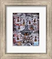 Chicago Blackhawks Stanley Cup Champions PF GOLD Fine-Art Print