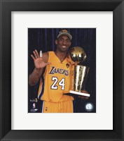 Kobe Bryant - 2010 NBA Finals Game 7 - Championship Trophy/5 Fingers in Studio(#27) Fine-Art Print