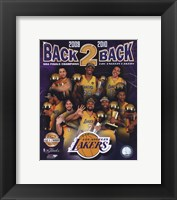 """Los Angeles Lakers """"Back-to-Back"""" PF GOLD Limited Edition Fine-Art Print"""
