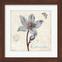 Touch of Blue IV - Love Fine-Art Print