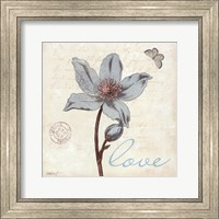 Touch of Blue IV - Love Fine-Art Print