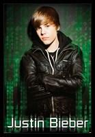 Justin Bieber Green Mural Wall Poster