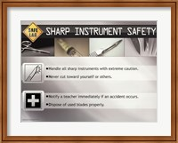 Sharp Instrument Safety Wall Poster