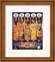 2010-11 Los Angeles Lakers Team Composite Fine-Art Print