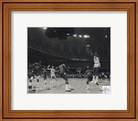 Michael Jordan University of North Carolina Game winning basket in the 1982 NCAA Finals against Georgetown Horizontal Action Fine-Art Print