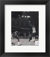 Michael Jordan University of North Carolina Game winning basket in the 1982 NCAA Finals against Georgetown Vertical Action Fine-Art Print