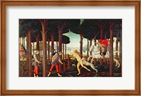 The Story of Nastagio degli Onesti: Nastagio's Vision of the Ghostly Pursuit in the Forest, 1483 or 1487 Fine-Art Print