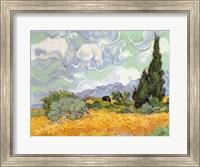 Wheatfield with Cypresses, 1889 Fine-Art Print