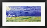Wheatfields under Thunderclouds, 1890 Fine-Art Print